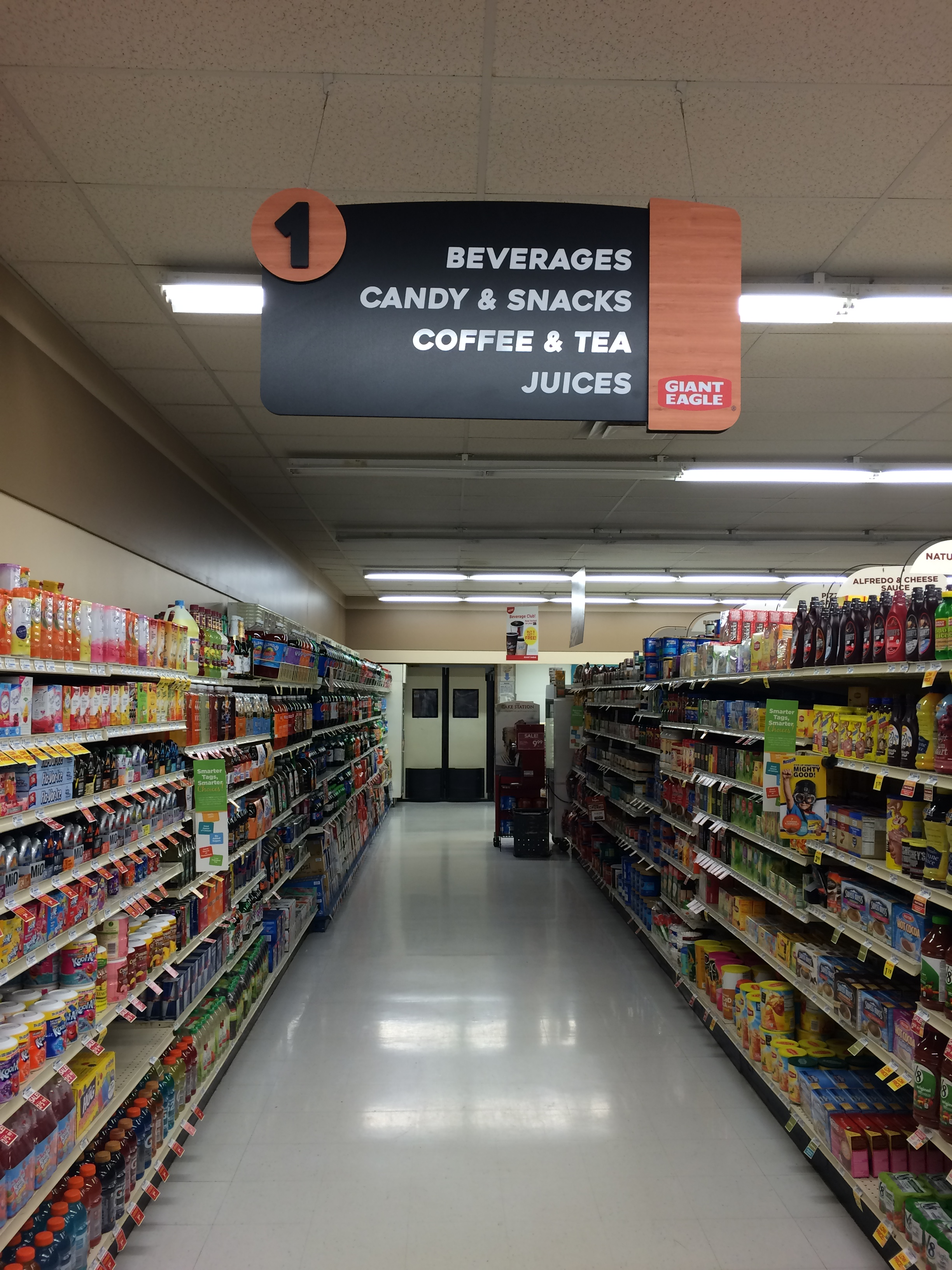 Baking Grocery Store Aisle Sign