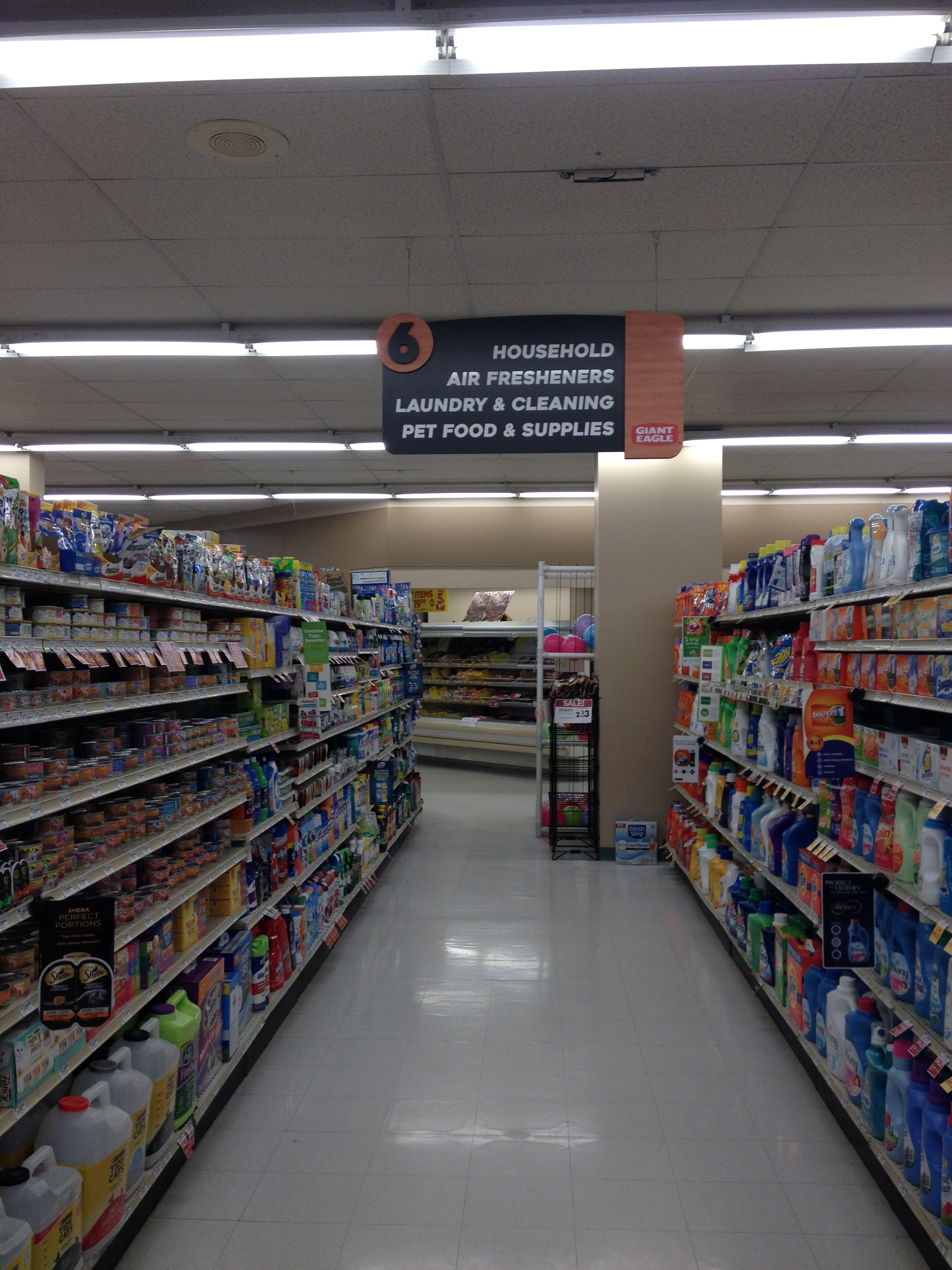 Grocery Store Aisle Markers